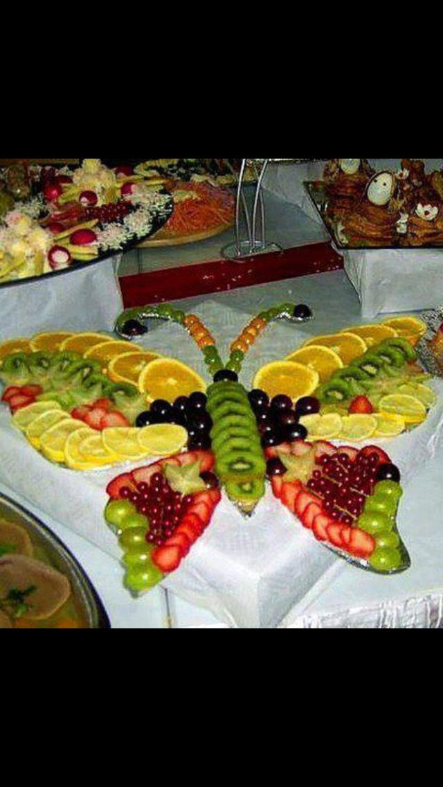 Butterfly fruit tray