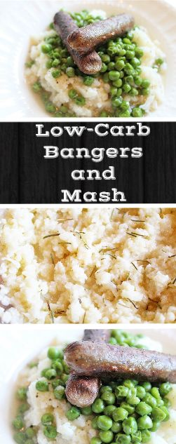 Low Carb Bangers and Mash Recipe, With Vegetarian Option