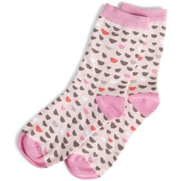 Vera Bradley Foxy Socks in Blush Half Moons ($12) ❤ liked on Polyvore featuring intimates, hosiery, socks, blush half moons, multi color socks, multi colored socks, knit socks, vera bradley and colorful socks