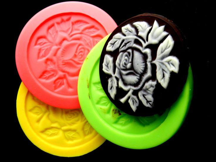 Cupcaketopper Tortenaufleger Rosen von Luflom-Design auf DaWanda.com