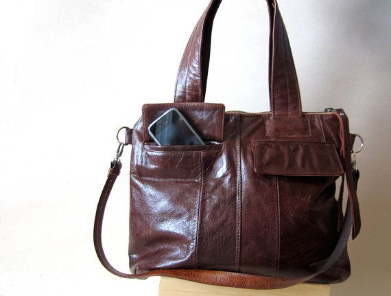 recycled leather handbag - Oh so in love with this bag!!!