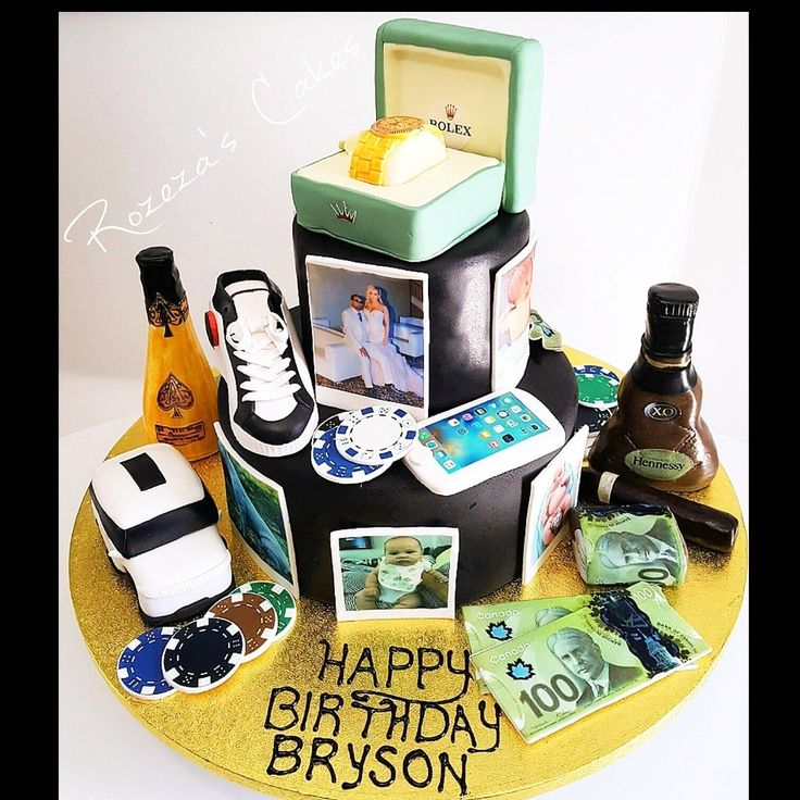 Mens cake Rolex Louboutin Hennessey Ace of spades Range rover