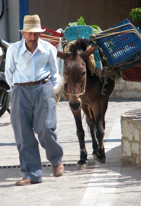 Delivering vegetables Paros, Greece