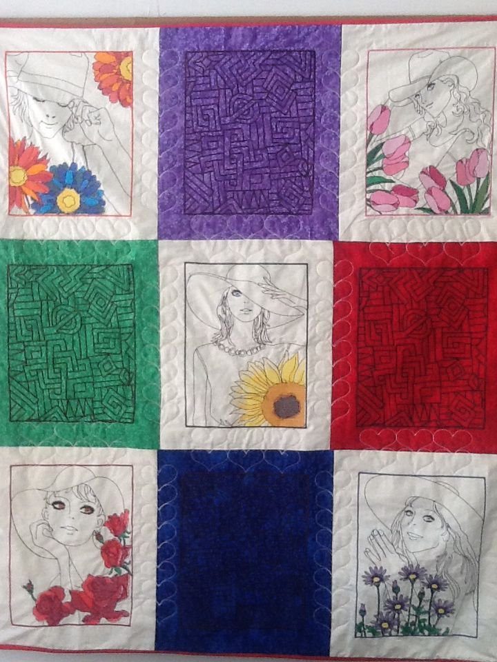 Ladys quilt from the janome mc
