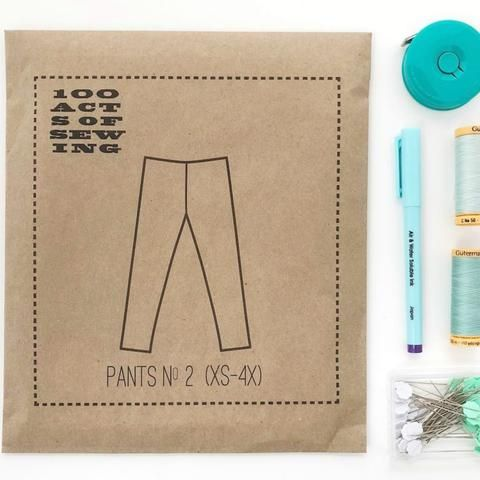 100 Acts Of Sewing Pants No 2 Pattern Paper With Images