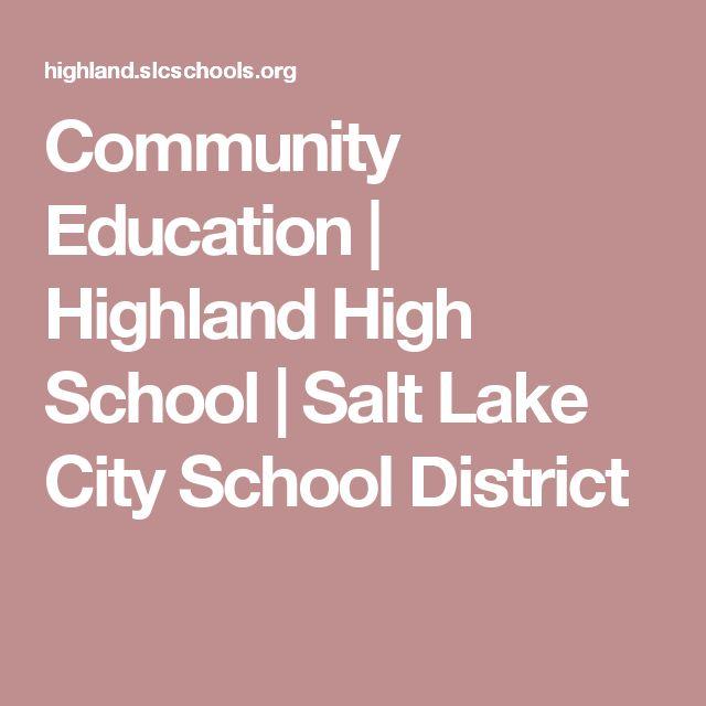 Community Education | Highland High School | Salt Lake City School District