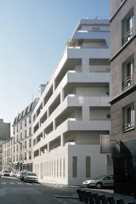 Logements Rue de Meaux , Paris, 2014 - ECDM Architectes