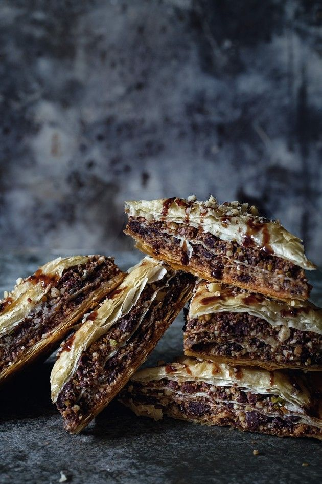 Chocolate Baklava - A dessert I have long known, but now with chocolate!