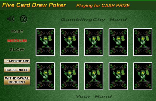 #Gambling City Online #Poker: #Win real cash (no deposit required) - Play Five-card draw Poker with $5 FREE cash and withdraw your #winnings!. Here is your #Exclusive link, click now and start playing: http://www.gamblingcity.com/?AD=DeePinterest