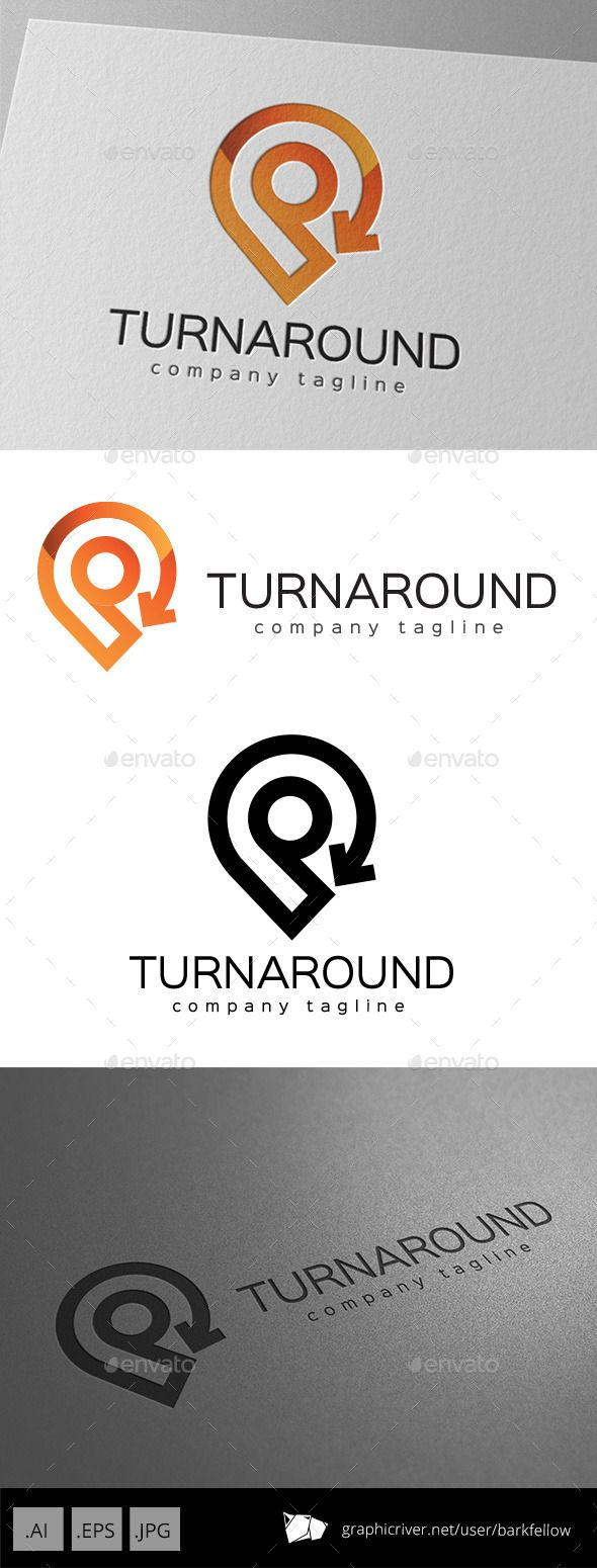 Turnaround Location Direction Logo Design Template - Symbols Logo Templates Vector EPS, AI Illustrator. Download here: https://graphicriver.net/item/-turnaround-location-direction-logo-design/11069444?ref=yinkira