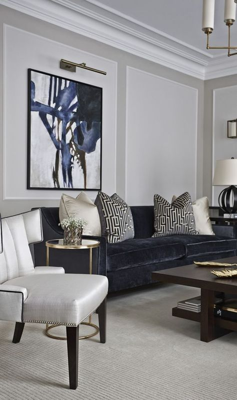 Living Room Painted In Inchyra Blue Ceiling In Shaded White