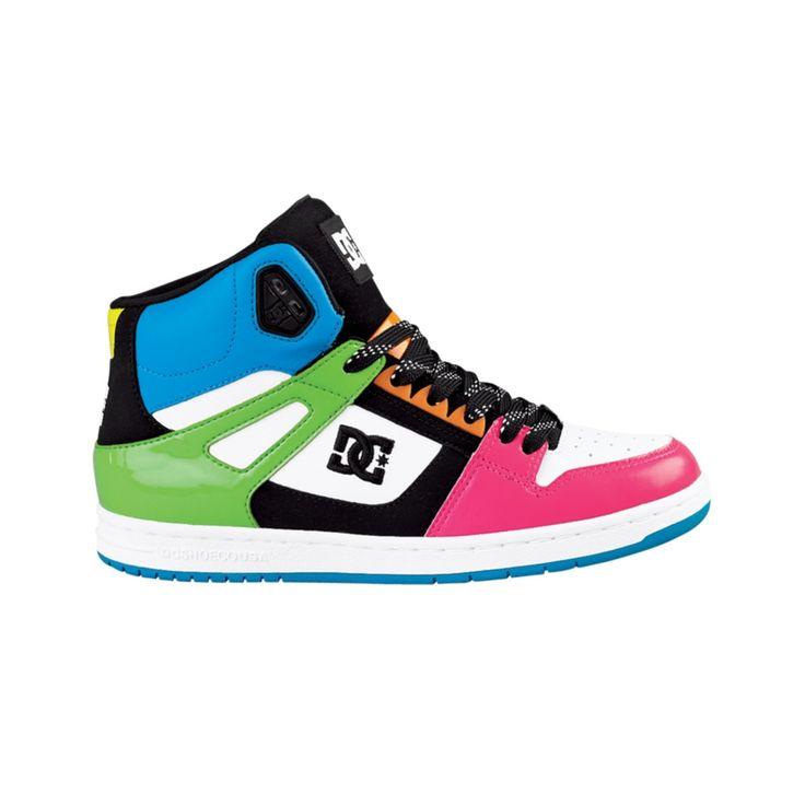 Womens Dc Rebound Hi Skate Shoe Multi