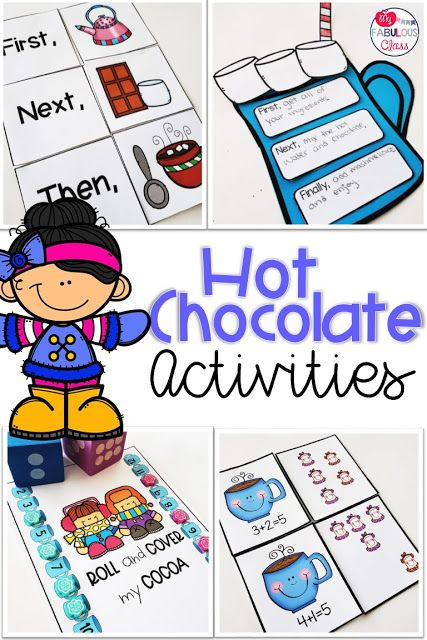 Hot Chocolate Activities, Math Centers, Literacy Centers, How To
