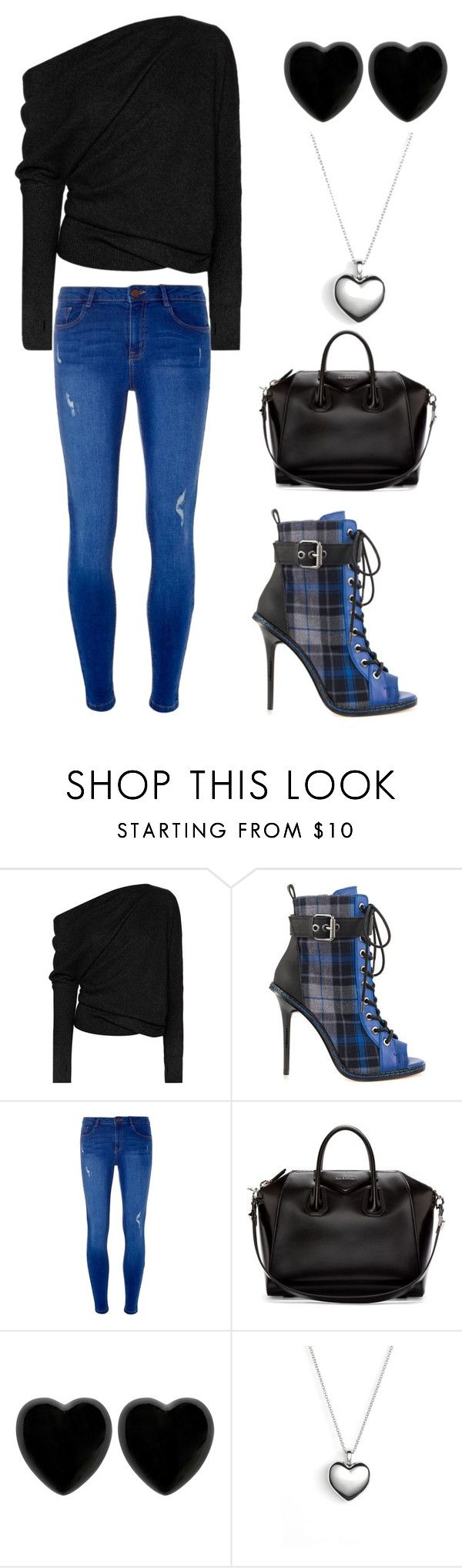 """Blue Black Love"" by alphashe on Polyvore featuring Tom Ford, GX, Dorothy Perkins, Givenchy, Dollydagger and Pandora"