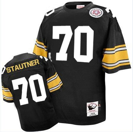 ernie stautner mens authentic black jersey mitchell and ness nfl pittsburgh steelers home 70