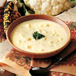Cauliflower Cheese Soup ~ This is a good solid meal in and of itself. Just serve it with a crusty loaf of bread and you'll be warm inside and out.