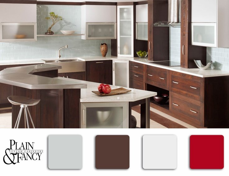 A Contemporary Kitchen Kitchen Pinterest Custom Kitchen Cabinets Custom Kitchens And