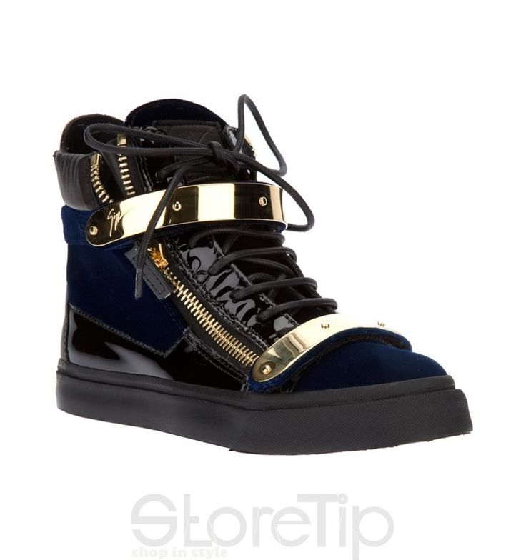 Giuseppe Zanotti Design Zip Detail Hi-Top Sneaker - StoreTip
