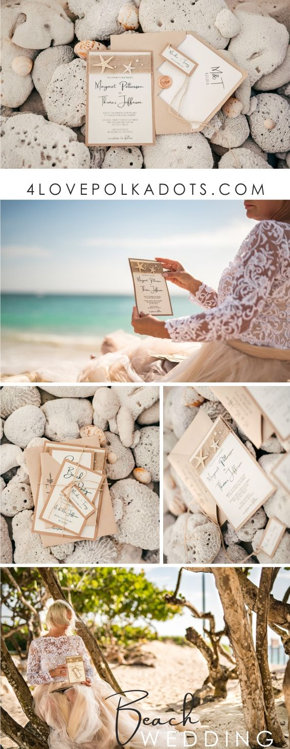 starfish wedding invitation kits%0A Incorporating subtle details like a starfish  pearls  a piece of burlap or  twine will add a lovely beach accent for eco wedding invitation  Beach  wedding