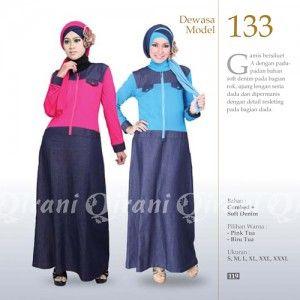 Baju Muslim Gamis qirani model terbaru yang lebih modern dan trendy