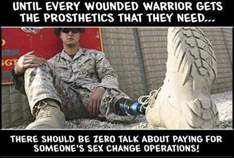 """The military is paid for by taxpaying Americans. Taxpayer money should NOT be used to pay for elective surgery including sex """"change"""", which is scientifically impossible."""