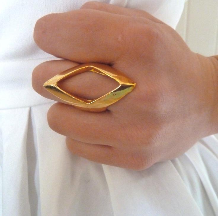 Aztec Diamond Shaped Ring
