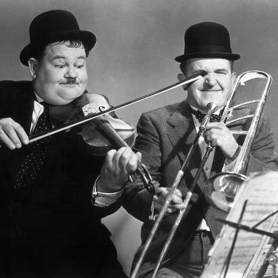 Laurel and Hardy <3 this says it all! :-)