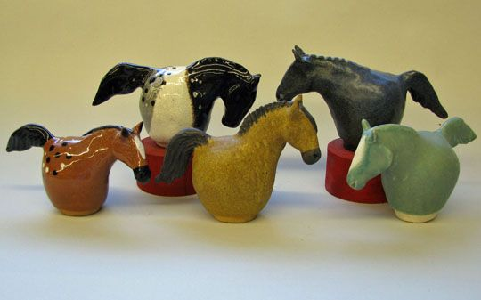 Current Exhibitions of clay sculpture by Wendy S. Timm, Arizona clay artist clay horses