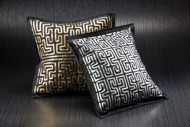 Metallic Woven Pillows