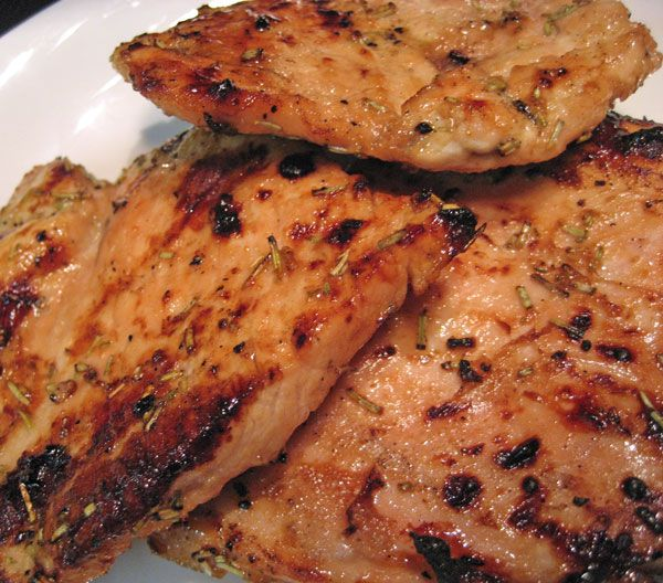 Grilled Turkey Cutlets, Mustard / Soy Marinade, Thin turkey cutlets absorb flavors and cook quickly - perfect for mid-week dinners