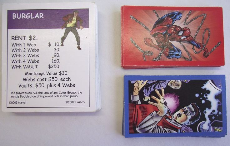 Spiderman Monopoly Deed, Spider-Man, Peter Parker Cards Game Parts Replacements #Hasbro
