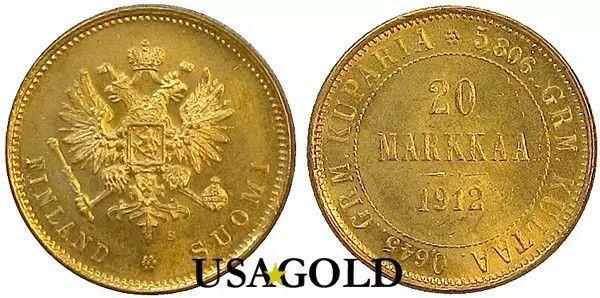 Finland 20Markkaa gold