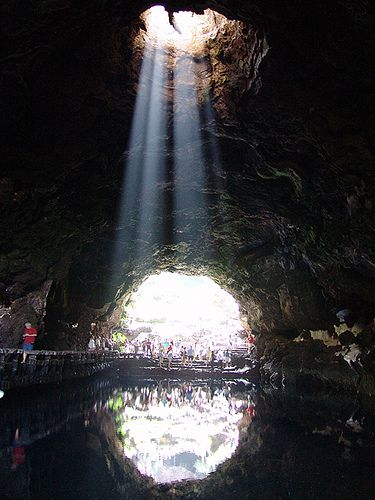 Jameos del Agua - Lanzarote: At the North of Lanzarote, nearby the Monte la Corona volcano, which erupted 3.000 years ago, starts a cave system and volcanic tubes (jameos) famous all over the world. You can enjoy this visit staying at Marconfort Atlantic Garden Bungalows. www.marconfort.com