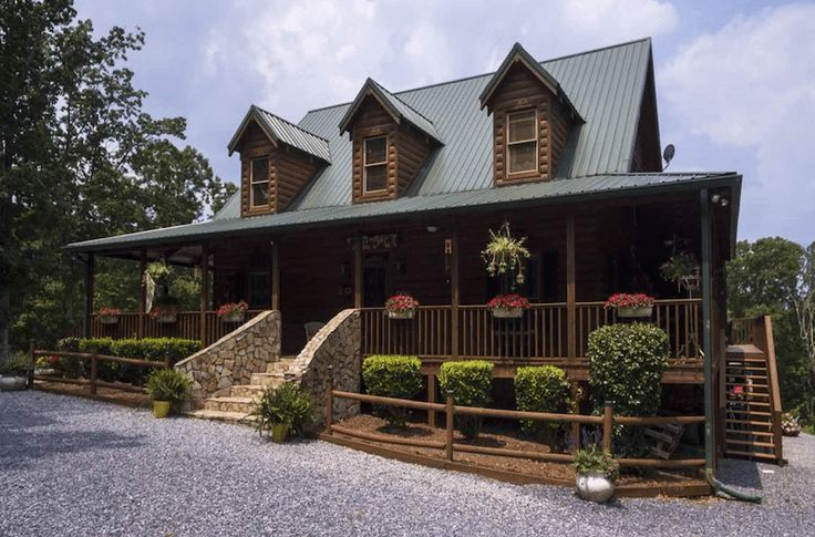 The secluded georgia log cabin is filled with southern for Southern charm house plans