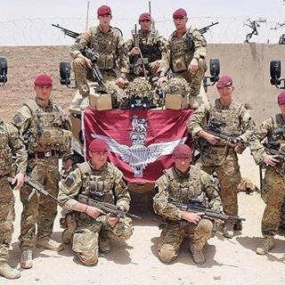 British Paratroopers, pictured during their tour of Afghanistan.