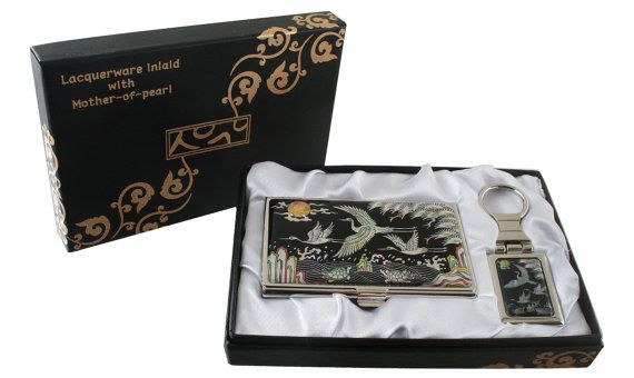 Nacre Mother of pearl Business card holder by MotherOfPearlShop, $29.00