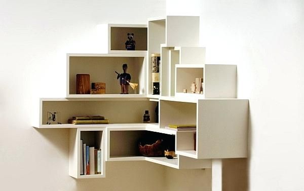 Box Shelves Wall Project Ideas Wall Box Shelves Innovative Shelving Creating Purposeful Art Wall Mou Corner Bookshelves Wall Shelves Design Corner Wall Shelves