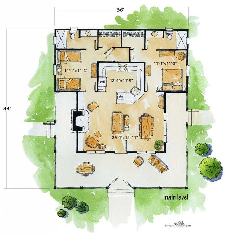 Bunkhouse Floorplan Two Bedroom Two Bath Need To Add