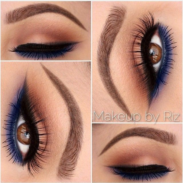A subtle pop of navy for a beautiful smokey eye! @makeupbyriz used our Epic Black Mousse Liner to get that sharp wing. Give this beautiful MUA a follow for more beautiful makeup inspiration! || #nyxcosmetics #regram