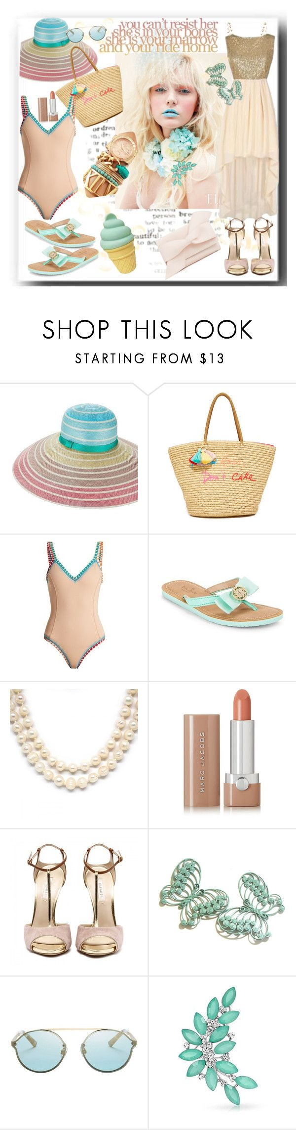 """""""Ready for the day!"""" by sherrysrosecottage-1 ❤ liked on Polyvore featuring Yazbukey, Missoni, Rebecca Minkoff, kiini, Kate Spade, Marc Jacobs, Web Sunglasses, Bling Jewelry and A Little Lovely Company"""