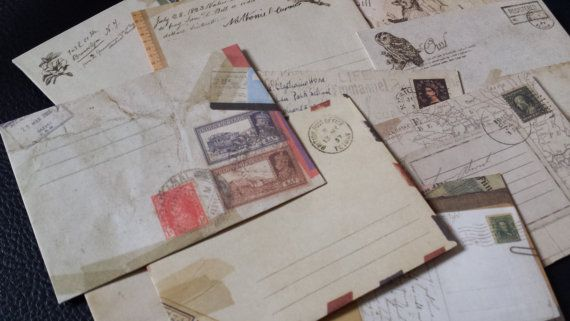 Mini buste da lettera vintage. Per scrapbooking, Cardmaking, Smash Book  e Art Journal