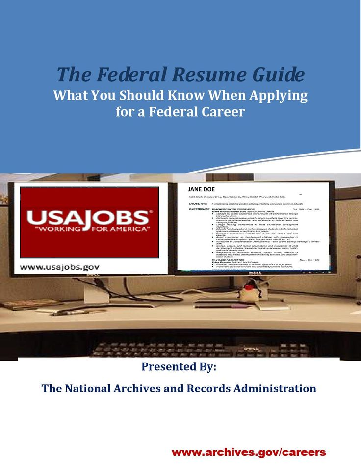 11 best Federal job images on Pinterest Federal, Job search and - federal job resume