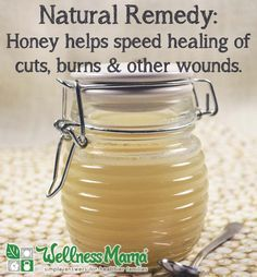 One of my favorite natural remedies of all time... and it has been getting a lot of mainstream medical attention lately because it works! Raw (manuka) Honey is incredible at helping the body heal wounds quickly: http://wellnessmama.com/15660/honey-healing-cuts-burns/ #naturalremedy #honey #remedy