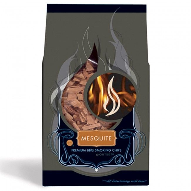 Infuse your favourite meats with Outset BBQ Mesquite Wood Smoking Chips. Great for ribs and chicken.
