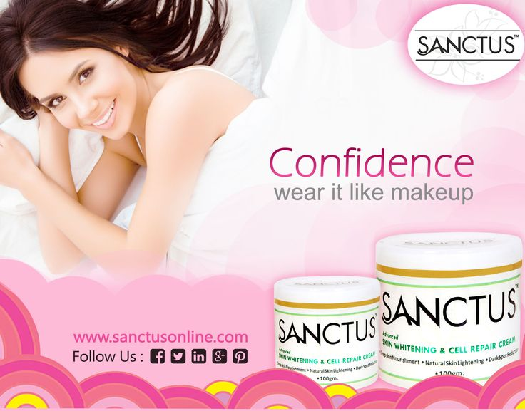 Confidence Wear It Like Makeup  Sanctus Online presents skin whitening and cell repairing cream that advances the skin complexion, moisturizes the skin and protects the skin from harmful UV-A & UV-B rays.  Our skin whitening cream gives the skin a more youthful appearance through a combination of natural ingredients.  Visit https://www.sanctusonline.com/skin-whitening-cream.php to buy Sanctus skin whitening cream in kerala.