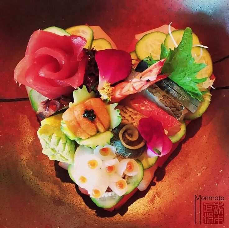 #manikinhead #food Sushi from Iron Chef Masaharu Morimoto for Valentine's Day