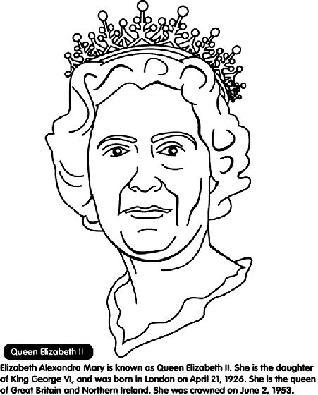 Coloring Pages Queen Victoria : Queen elizabeth ii coloring page pages