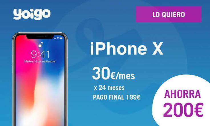 iPhone X de 64 GB 200 euros más barato gracias a Yoigo - https://www.actualidadiphone.com/iphone-x-ahorro-200-euros-yoigo/