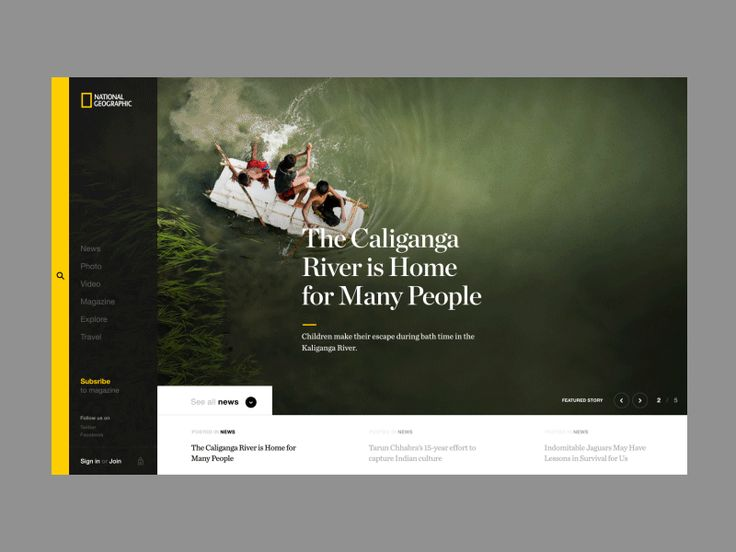 home web design. Nat Geo  Landing Page Web Design 2039 best web design images on Pinterest Interface