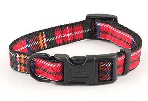 """Aus der Kategorie Klassische Halsbänder  gibt es, zum Preis von EUR 8,75  Nylon Halsbänder. Nylon Halsbänder mit schweren Kunststoff-Befestigung. rote Tartan. Voll einstellbare mit einem Chrom-Ring um die Führung zu befestigen. Diese Halsbänder sind weich und bequem für den Hund. Es gibt passende Hundeleine zur Verfügung. Diese Halsbänder sind ideal für Welpen und heranwachsende Hunde, Auch geeignet für Hunde, die gern schwimmen. voll waschbar. Kleine 20cm - 30cm / 8 """"- 12"""" Medium 25cm…"""